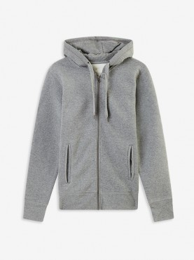 "Sweat Homme zip gris ""Orphée"""
